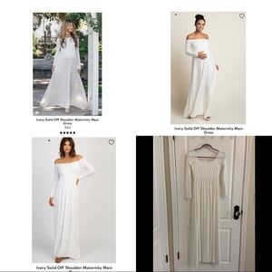 Pinkblush Ivory maxi maternity gown dress